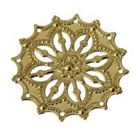 Messing Cabochon Einstellungen, goldfarben plattiert, hohl, frei von Nickel, Blei & Kadmium, 34.50x34.50x1mm, Bohrung:ca. 1mm, 20PCs/Menge, verkauft von Menge