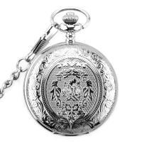 Mode Halskette Uhr, Zinklegierung, plattiert, unisex, keine, frei von Nickel, Blei & Kadmium, 47x15mm, Länge:ca. 147.64 ZollInch, 2SträngeStrang/Tasche, verkauft von Tasche