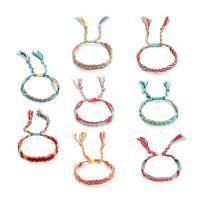 Nylonschnur Woven Ball Armband, plattiert, einstellbar & für Frau, keine, verkauft von Strang