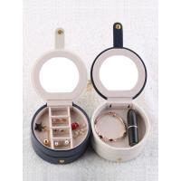 PU Leder Schmucksetkasten, mit Beflockung Stoff, abnehmbare & mit Spiegel, keine, 110x110x58mm, ca. 3/setzen, verkauft von setzen