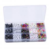 Gemischte Acrylperlen, Acryl, DIY & Emaille, gemischte Farben, 7.5mm,4x7mm,7mm, Bohrung:ca. 1mm, 800PCs/Box, verkauft von Box