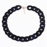 Acetat-Blatt Halskette, für Frau, keine, frei von Nickel, Blei & Kadmium, 500mm, 2SträngeStrang/Menge, verkauft von Menge