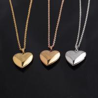 Edelstahl Medaillon-Halskette, Herz, unisex & Oval-Kette, keine, verkauft per ca. 17.72 ZollInch Strang