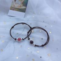 Strawberry Quartz Ehepaar Armband, mit PU Leder & Zinklegierung, poliert, verschiedene Stile für Wahl, verkauft per ca. 7 ZollInch Strang