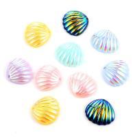 Acryl Anhänger, Schale, plattiert, DIY, gemischte Farben, frei von Nickel, Blei & Kadmium, 20*19mm, 10PCs/Tasche, verkauft von Tasche