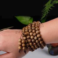 Aloewood Multilayer Armbänder, mit Nylonschnur, Halbhandgefertigt, unisex, 8mm, verkauft von Strang