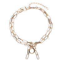 Eisen Halsketten, verschiedene Stile für Wahl & für Frau, frei von Nickel, Blei & Kadmium, 440mm,640mm, 5SträngeStrang/Menge, verkauft von Menge