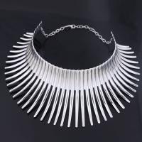 Kragen Halskette, Zinklegierung, plattiert, für Frau, keine, frei von Nickel, Blei & Kadmium, 125mm, verkauft von Strang