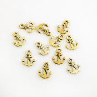 Zinklegierung Schiffsrad & Anker Anhänger, plattiert, DIY, goldfarben, frei von Nickel, Blei & Kadmium, 17*13mm, 3Taschen/Menge, 10PCs/Tasche, verkauft von Menge
