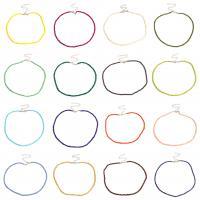Eisen Halsketten, mit Glasperlen, plattiert, für Frau, keine, frei von Nickel, Blei & Kadmium, 38+10cm, verkauft per ca. 14.96 ZollInch Strang