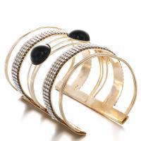 Eisen Armreif, mehrschichtig & verschiedene Stile für Wahl & für Frau & mit Strass, frei von Nickel, Blei & Kadmium, 65mm, 2SträngeStrang/Menge, verkauft von Menge