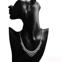 Braut Schmucksets, Ohrring & Halskette, Strass, mit Messing Klaue Kette, für Frau & mit Strass, 30x7cm, verkauft von setzen