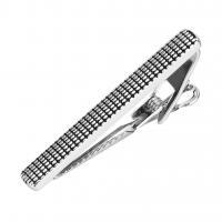 Messing Krawattenklammer, plattiert, für den Menschen & Schwärzen, frei von Nickel, Blei & Kadmium, 50x6mm, 2PCs/Menge, verkauft von Menge
