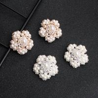 Braut Ohrring, Kunststoff Perlen, Blume, für Frau & mit Strass, keine, 3x3cm, verkauft von Paar