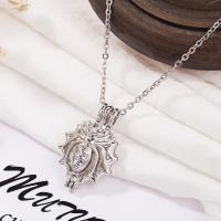 Edelstahl Schwimm Medaillon Halskette, plattiert, für Frau, Silberfarbe, 30*20mm, verkauft per 19.6 ZollInch Strang
