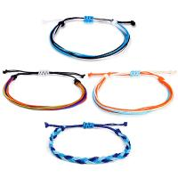 Gewachsten Baumwollkordel Armband-Set, Armband, für Frau, gemischte Farben, frei von Nickel, Blei & Kadmium, 160mm,170mm, 4SträngeStrang/setzen, verkauft von setzen