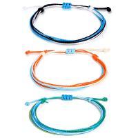 Gewachsten Baumwollkordel Armband-Set, für Frau, gemischte Farben, frei von Nickel, Blei & Kadmium, 160mm, 3SträngeStrang/setzen, verkauft von setzen