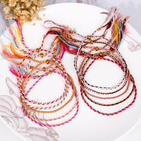Baumwollfaden Armband, für Frau, keine, frei von Nickel, Blei & Kadmium, 160mm, verkauft von Strang