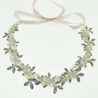Braut Haarband, Zinklegierung, mit Klarer Quarz, handgemacht, für Braut, keine, frei von Nickel, Blei & Kadmium, 20x290mm, verkauft von PC