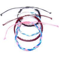 Gewachste Nylonschnur Armband, handgemacht, unisex & einstellbar & gewebte Muster & verschiedene Stile für Wahl, Länge:ca. 6.30 ZollInch, 5SträngeStrang/Menge, verkauft von Menge