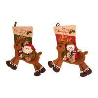 Weihnachtsferien Strümpfe Geschenk Socken, Stoff, mit Baumwollsamt, verschiedene Stile für Wahl, 240x570mm, verkauft von PC