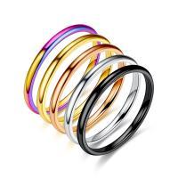 Edelstahl Ringe, plattiert, unisex & verschiedene Größen vorhanden, keine, 2mm, verkauft von PC