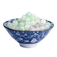 Jadeit Perlen, rund, poliert, DIY & verschiedene Größen vorhanden, Bohrung:ca. 1.2,1.5,1.8mm, 100PCs/Tasche, verkauft von Tasche
