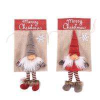 Weihnachtsgeschenkbeutel, Leinen, mit Nichtgewebte Stoffe & Baumwolle, keine, 165x360mm, 5PCs/Menge, verkauft von Menge