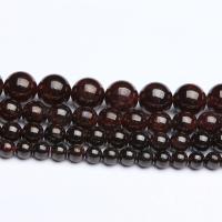Natürlicher Granat Perlen, rund, poliert, DIY & verschiedene Größen vorhanden, verkauft von Strang
