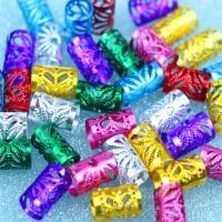 Aluminium Zylinder, Oxidation, hohl, gemischte Farben, 15x10mm, 200PCs/Tasche, verkauft von Tasche
