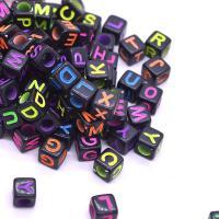 Kunststoffperlen, Kunststoff, Quadrat, Emaille, keine, 6x6mm, Bohrung:ca. 2mm, ca. 3000PCs/Tasche, verkauft von Tasche