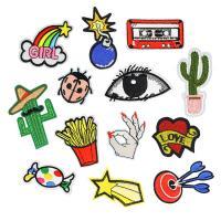 Nähen-auf Patch, Stoff, bestickte & DIY & verschiedene Stile für Wahl, 10PCs/Menge, verkauft von Menge