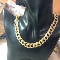 Zinklegierung Halskette, verschiedene Größen vorhanden & Kandare Kette & für den Menschen & mit Strass, frei von Nickel, Blei & Kadmium, verkauft von PC