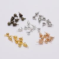 Eisen Ohrring-Bolzen -Komponente, plattiert, DIY & verschiedene Größen vorhanden, keine, frei von Nickel, Blei & Kadmium, 50PCs/Tasche, verkauft von Tasche
