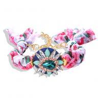 Stoff Armband, stricken, einstellbar & für Frau & mit Strass, keine, 28mm, Länge:242 Millimeter, verkauft von PC