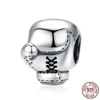925 Sterling Silber Perlen, 925er Sterling Silber, Boxhandschuh, Oxidation, DIY, 9x12mm, verkauft von PC