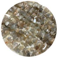Mondstein Perlen, Klumpen, grau, 5-8mm, Bohrung:ca. 1mm, verkauft per ca. 35.4 ZollInch Strang
