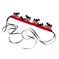 Filz Haarkranz, handgemacht, Halloween Schmuck & für Frau, rot, 29x6cm, verkauft von Strang