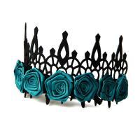 Filz Haarkranz, mit Satinband, handgemacht, Halloween Schmuck & für Frau, grün, 29.5x12cm, verkauft von Strang