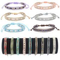Kristall Armbänder, mit Baumwolle Schnur, für Frau, mehrere Farben vorhanden, verkauft von PC