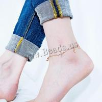 Titanstahl Fußkettchen, mit Verlängerungskettchen von 40mm, Rósegold-Farbe plattiert, einstellbar & für Frau, Länge:210 Millimeter, verkauft von PC