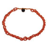 Koralle Halskette, mit Nylonschnur & Schwarzer Achat, für Frau, hellrot, 8*5mm, verkauft per ca. 19.6 ZollInch Strang