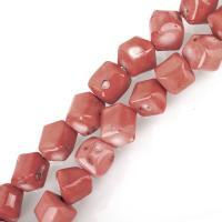 Natürliche Korallen Perlen, Koralle, Henna Rot, 12-17x14-16x12-15mm, Bohrung:ca. 1.5mm, verkauft von kg