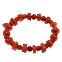 Korallen Armband, Koralle, für Frau, rote Orange, 12*7mm-16*12*6mm, verkauft per ca. 7.5 ZollInch Strang