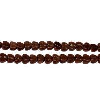 Goldstein Perlen, Goldsand, flacher Herz, Henna Rot, 6*3mm, Bohrung:ca. 0.5mm, Länge:15.7 ZollInch, 5SträngeStrang/Tasche, verkauft von Tasche