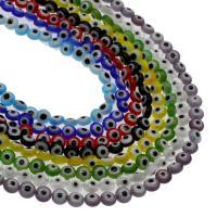 Böser Blick Lampwork Perlen, blöser Blick, verschiedene Größen vorhanden, keine, Bohrung:ca. 0.8mm, Länge:15.7 ZollInch, 5SträngeStrang/Tasche, verkauft von Tasche