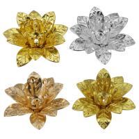 Messing Perlenkappe, Lotus, plattiert, keine, frei von Nickel, Blei & Kadmium, 16x13x6.50mm, Bohrung:ca. 1mm, 300PCs/Menge, verkauft von Menge