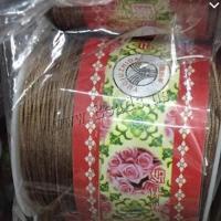 Baumwollschnur, Baumwollfaden, mit Kunststoffspule, kakifarben, 1mm, ca. 100WerftenHof/Spule, verkauft von Spule