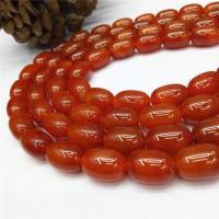 Natürlich rote Achat Perlen, Roter Achat, DIY, rot, 14*10mm, ca. 28PCs/Strang, verkauft von Strang