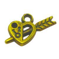Verkupferter Kunststoff Anhänger Cabochon Einstellung, Herz, antike Bronzefarbe plattiert, 23.50x11x3.50mm, Bohrung:ca. 2mm, ca. 500PCs/Tasche, verkauft von Tasche